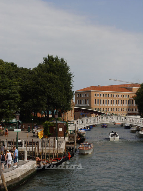 Venice - canal and gondolas