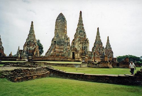 Temple complex, Ayutthaya, Thailand