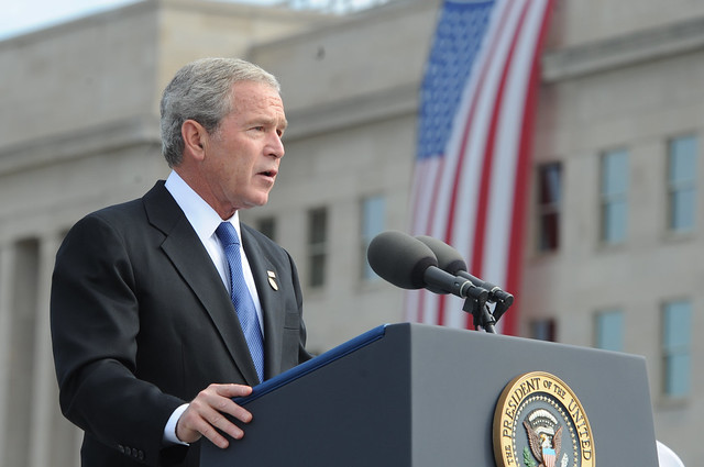 President George W. Bush visits Pentagon from Flickr via Wylio