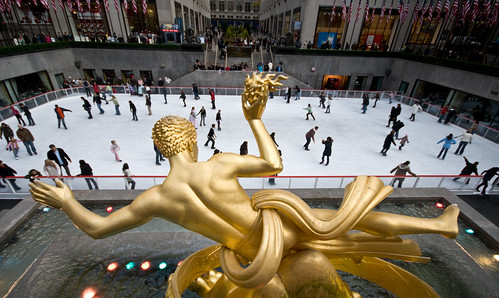 Ice Skating In Rockefeller Center NY