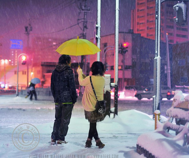 Snowy Wednesday Night in Hirosaki. © Glenn Waters 13,200 visits to this photo. Thank you.