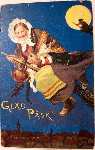 Vintage Easter Postcard - Glad Pask Sweden