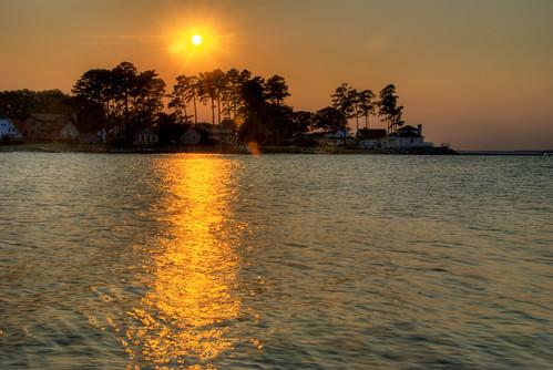 ocean sunset sky beach water clouds bay sand surf waves va chesapeake deltaville