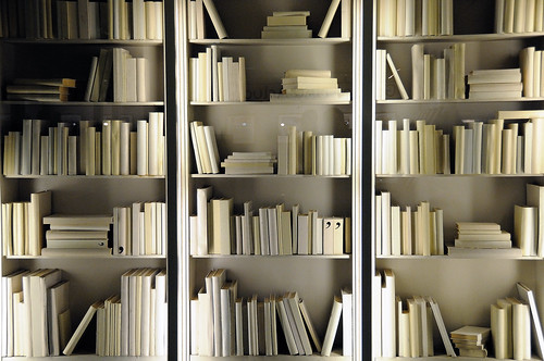 "The ""Apostrophes"" bookshelves"