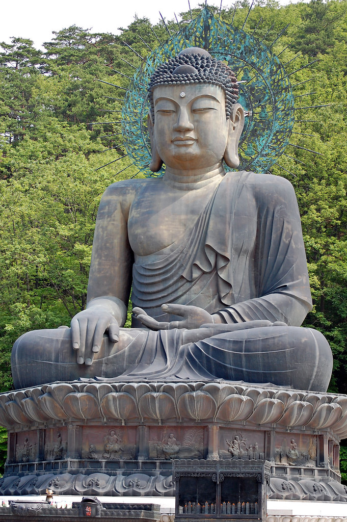 The Sitting Budda, Mt Seorakson, Kangwondo Province, Korea