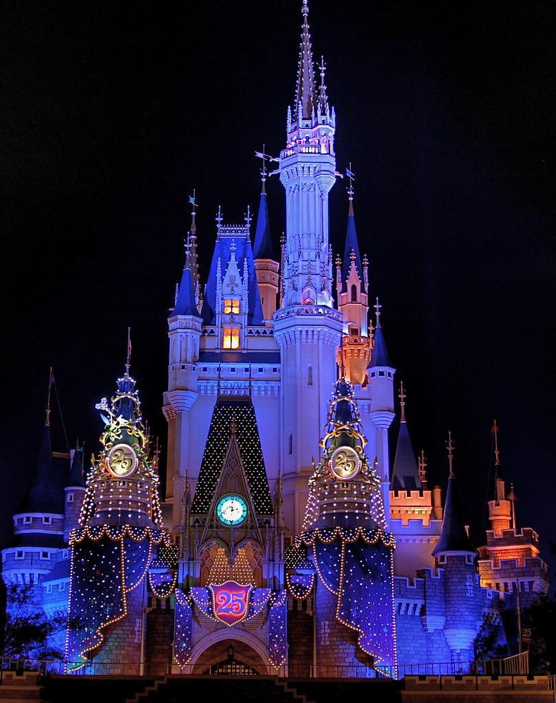 Disneyland Castle At Night Tokyo Disneyland 25th ...