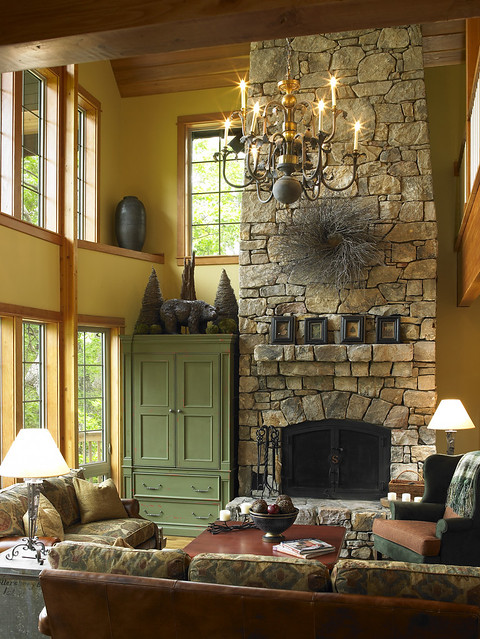 stone fireplace and exposed beams in living room flickr photo sharing. Black Bedroom Furniture Sets. Home Design Ideas