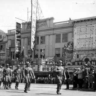 San Francisco, CA Army Day Parade on Market Street 6 April 1947