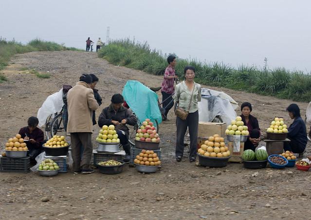 Private market in North Korea