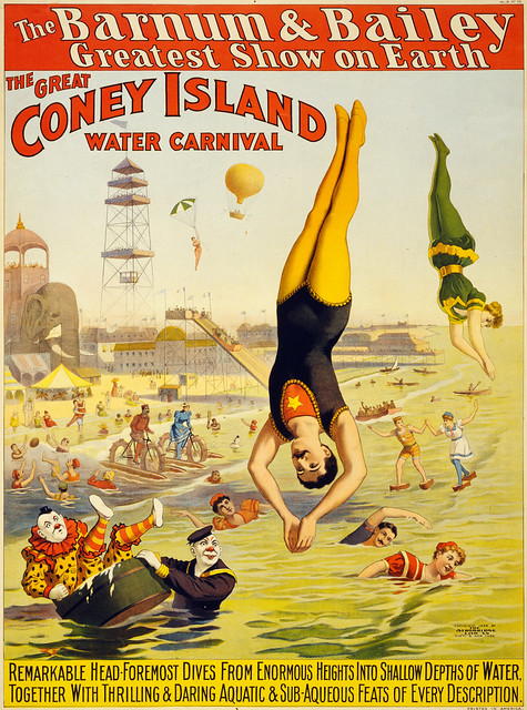The great Coney Island water carnival, poster for Barnum & Bailey, 1898