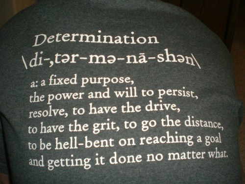 achieve career goals through determination