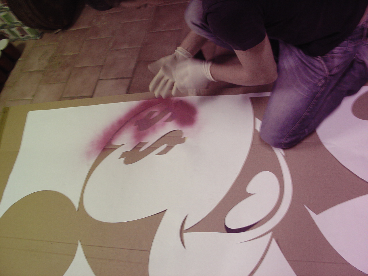 TOPOLINO MONEY MOUSE MEGA STENCIL (LORD SATO AT WORK)