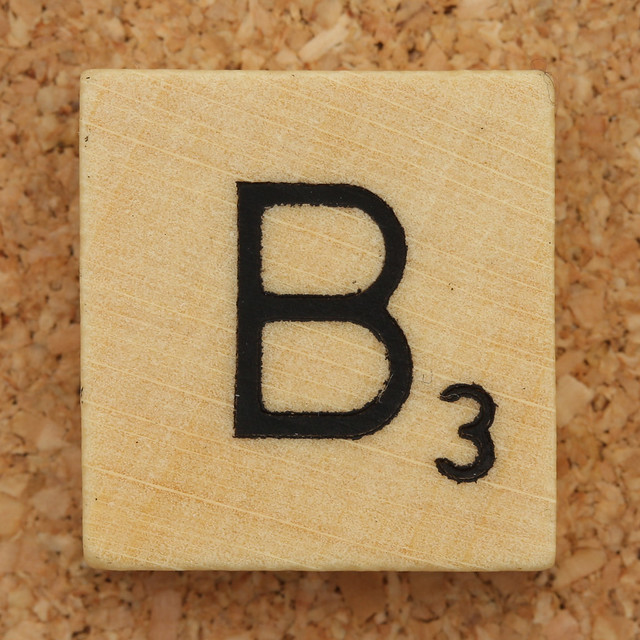 Wood Scrabble Tile B