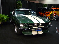 sports car(0.0), automobile(1.0), automotive exterior(1.0), wheel(1.0), vehicle(1.0), performance car(1.0), automotive design(1.0), auto show(1.0), shelby mustang(1.0), first generation ford mustang(1.0), antique car(1.0), land vehicle(1.0), muscle car(1.0), motor vehicle(1.0),