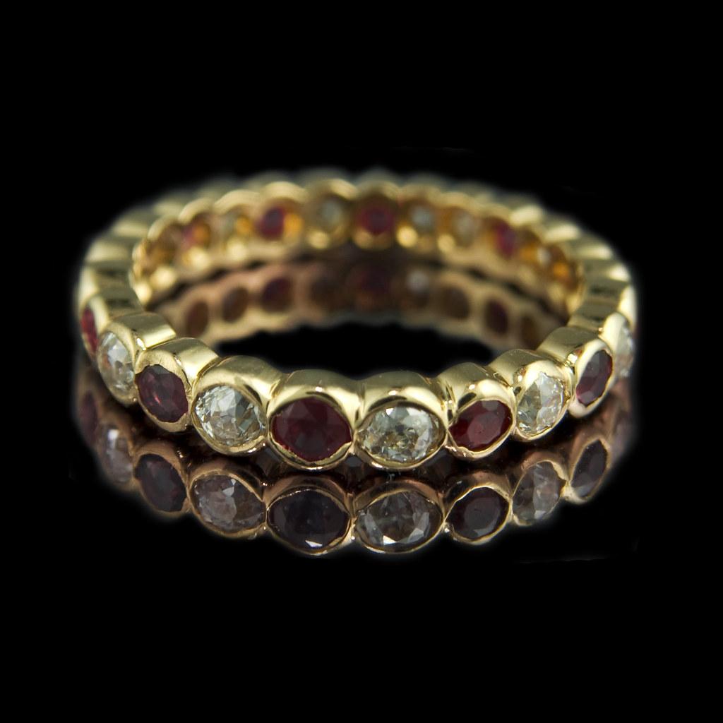 Eternity Engagement And Wedding Ring Sets 60 Luxury Ruby u diamond eternity