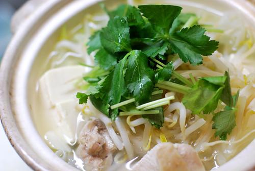 湯豆腐のつもりが鶏で水炊き