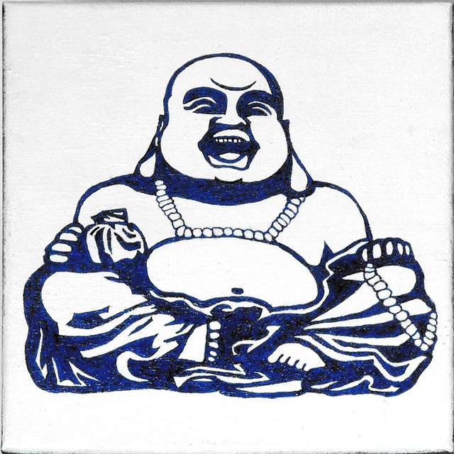 laughing buddha drawing -#main