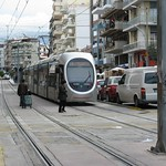 Tram vs Pedestrians and Open Market, Athens, Greece