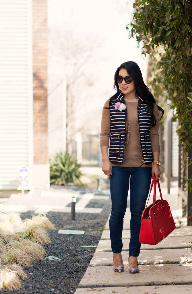cute & little blog | stripes, flowers, and stripes outfit