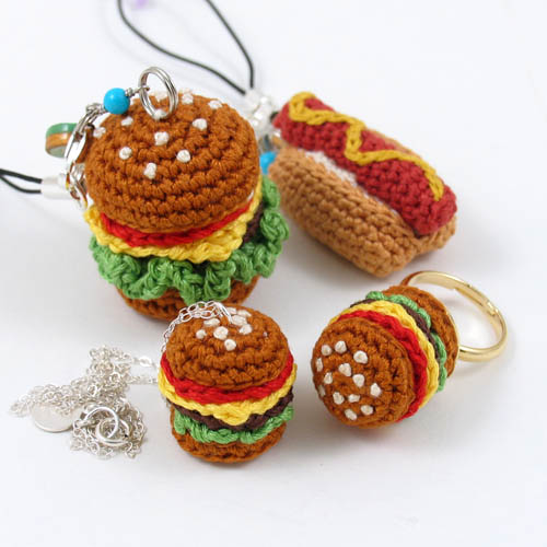 Amigurumi Fast Food : Crochet Miniature Amigurumi Junk Food Jewelry Flickr ...