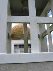 Abandoned Chong Hua Sheng Mu Holy Palace, Golden Globe viewed through Tower