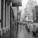 Rain on Broadway, SOHO, New York City, b/w