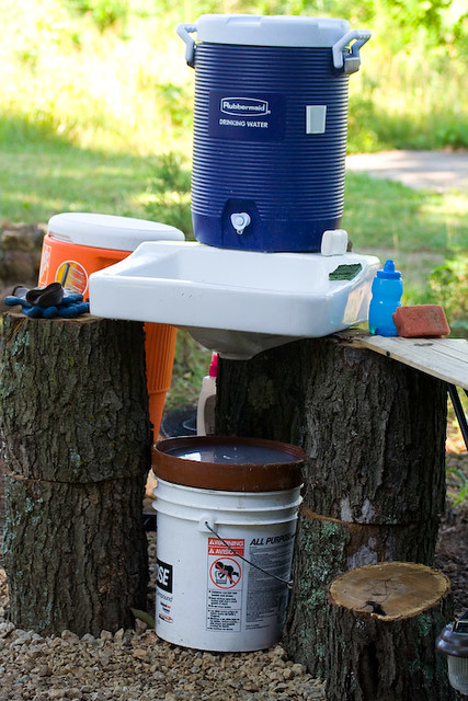 Outdoor sink and DIY Graywater filter