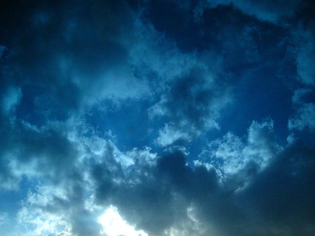 blue cloud texture