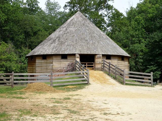 George Washington 39 S 16 Side Thrashing Barn 1794 At Mount