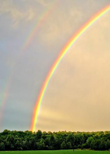 sunset sky rain germany deutschland rainbow europe wiesbaden hessen sundown himmel wolken clauds sonne regen wetter hesse regnbogen