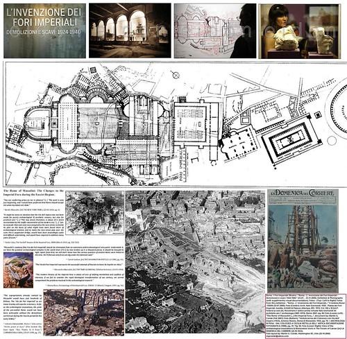 """Roma - I Fori Imperiali: Mostra - """"Roma - L' invenzione dei Fori Imperiali - Demolizioni e scavi: 1924-1940."""" (23.07. - 23.11.2008). Exhibition & Photographs (with supplimentry visual documentation)."""