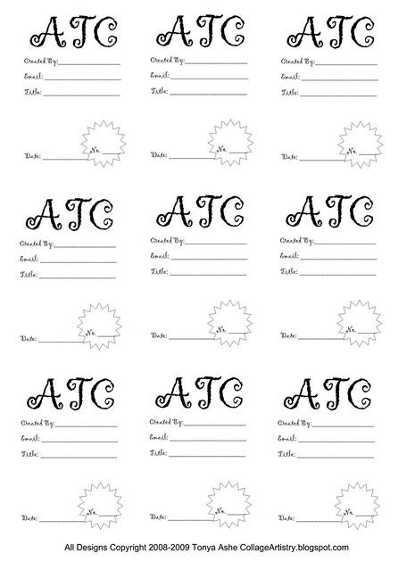 ATC Back Design Sheet No.3 - a photo on Flickriver
