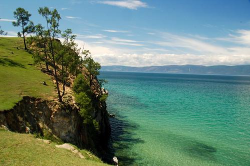 lake view russia tranquility siberia olkhon baikail