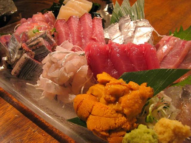 渋谷区松濤「4番サード魚真」の「刺身盛り合わせ」