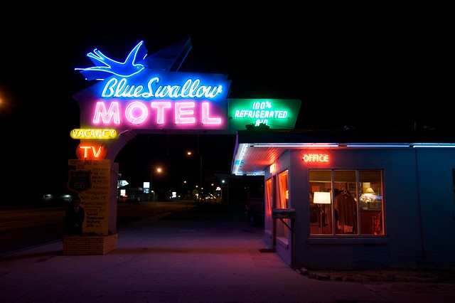 Blue Swallow Motel - 815 East Route 66, Tucumcari, New Mexico U.S.A. - September 7, 2008