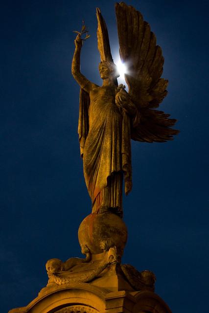 Angel Moon   The light of the full moon peeking through ...