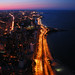 Northern Chicago and the Lake Michigan