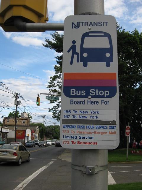 Nj Transit Bus Stop Info Flickr Photo Sharing