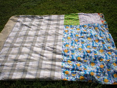 Soccer Quilt - bottom