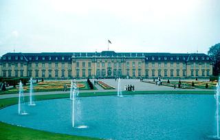 Image of Schloss Ludwigsburg. germany garden deutschland palace tulip schloss ludwigsburg 1960 badenwürttemberg wurttemberg württembrg