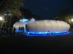 illuminated Chanel Mobile Art Pod