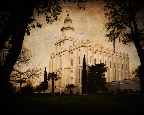 St. George Utah Temple, From North