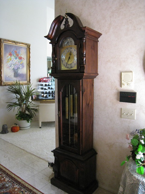 Large Clock In Foyer : Grandfather clock in foyer flickr photo sharing