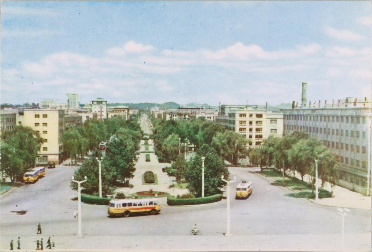 Stalin Street, Pyongyang, 1960s