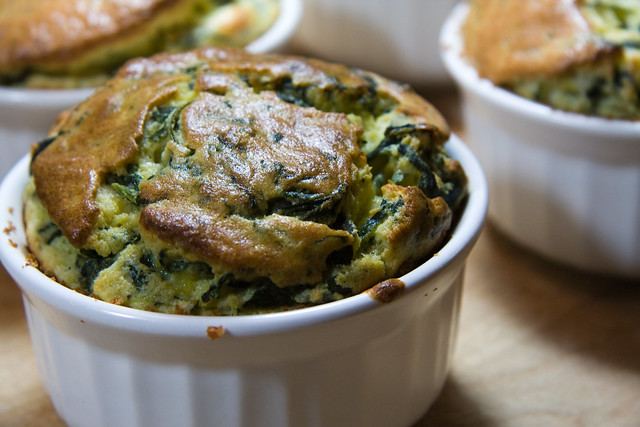 Cheese & Spinach Souffles   Flickr - Photo Sharing!