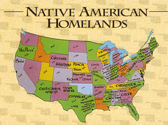 Usa Native American Homelands Map Postcard From Their Home Flickr