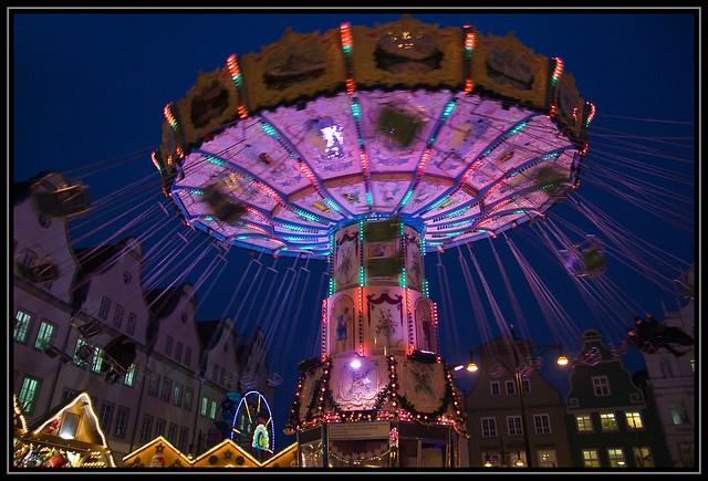 Rostock bei Nacht-Weihnachtsmarkt