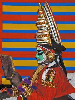 Préparation d'un acteur de Kathakali