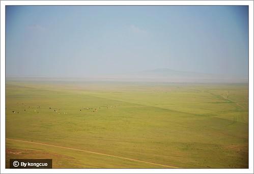 一望无际的锡林郭勒草原