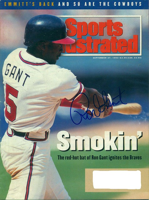 September 27, 1993, Autographed Sports Illustrated by Ron Gant